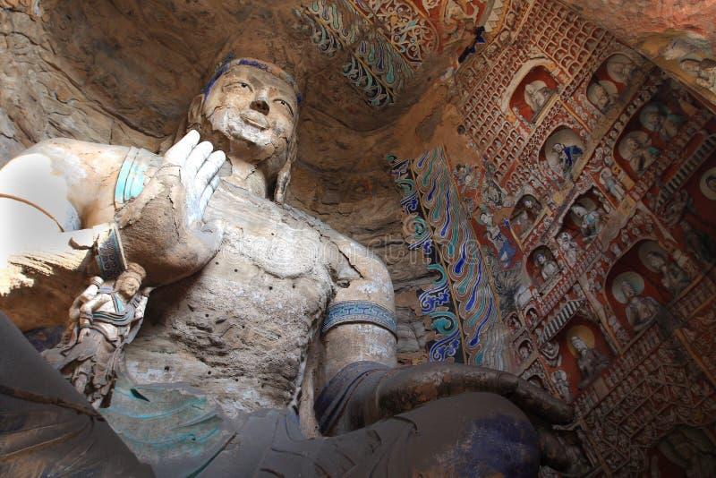 Yungang Grottoes fotografering för bildbyråer
