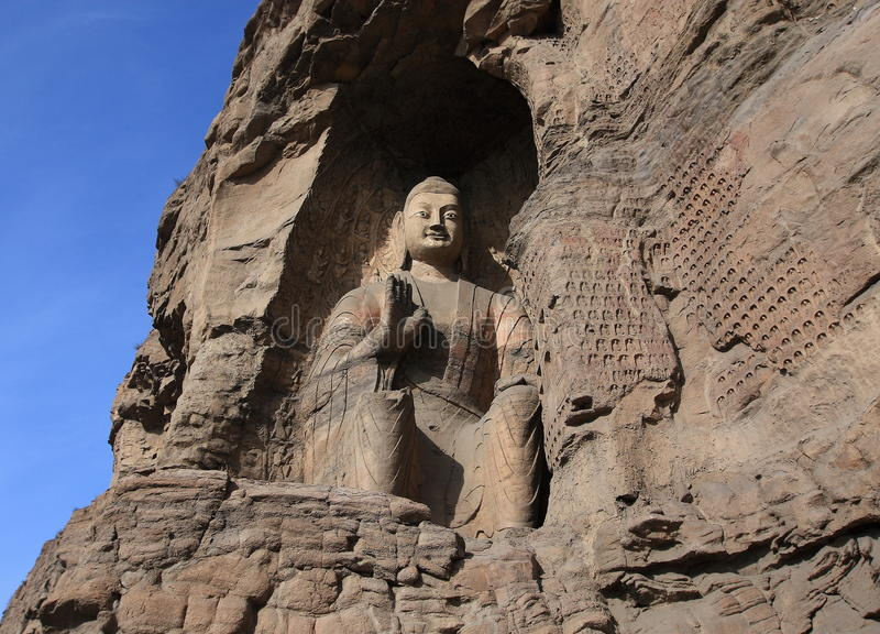 Download Yungang Grottoes stock photo. Image of central, sculptural - 23129260