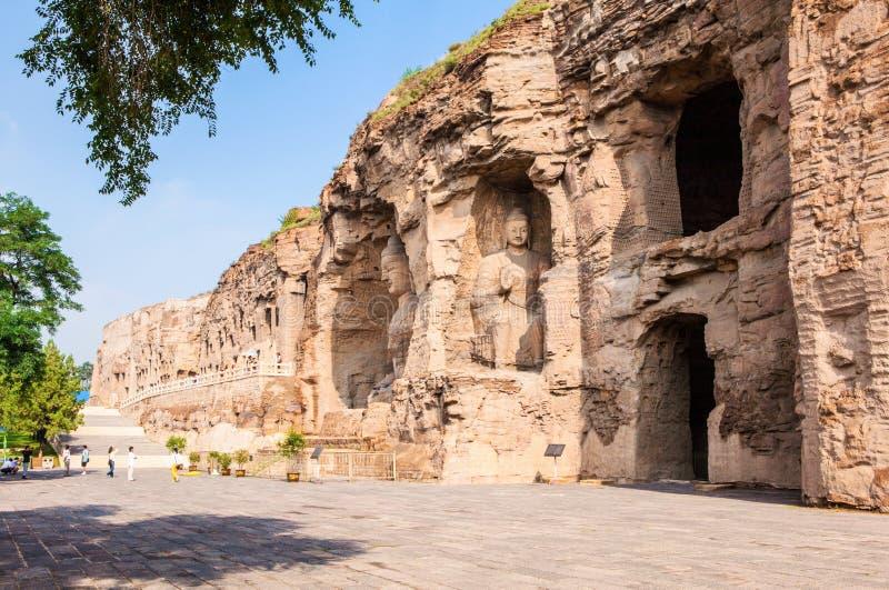 Yungang grottor royaltyfri fotografi