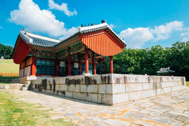 Yungneung and Geolleung Royal Tombs, Korean traditional architecture in Hwaseong. Korea royalty free stock images