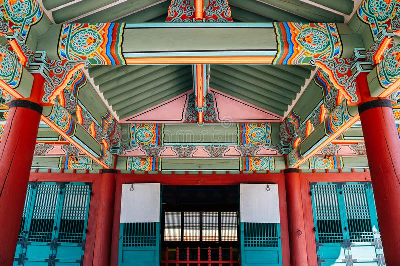 Yungneung and Geolleung Royal Tombs, Korean traditional architecture in Hwaseong. Korea royalty free stock photo