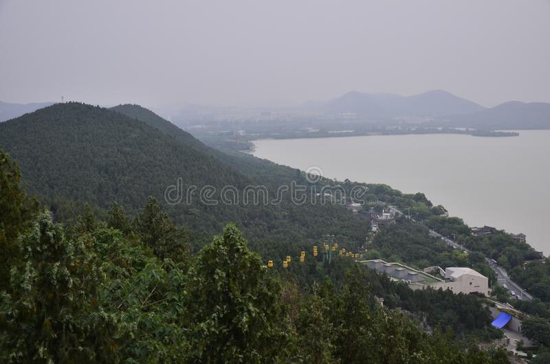 Yunlong山风景在徐州,中国的 免版税库存图片