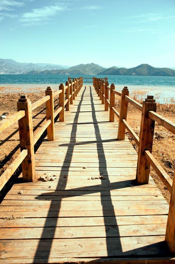 Yunnan, China, Lugu Lake scenery.  stock photos