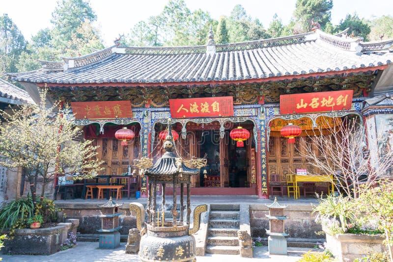 YUNNAN, CHINA - MAR 21 2015: Shibaoshan Mountain(Shibaoshan Shiku). a famous historical site of Jianchuan, Yunnan, China. royalty free stock image