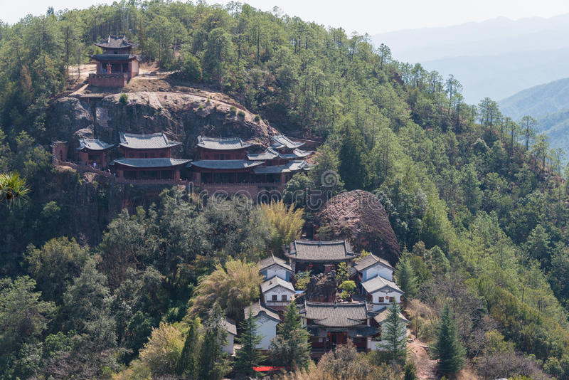 YUNNAN, CHINA - MAR 21 2015: Shibaoshan Mountain(Shibaoshan Shiku). a famous historical site of Jianchuan, Yunnan, China. royalty free stock photos