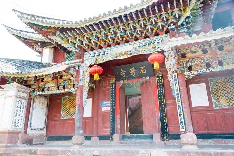YUNNAN, CHINA - MAR 21 2015: Shibaoshan Mountain(Shibaoshan Shiku). a famous historical site of Jianchuan, Yunnan, China. stock image