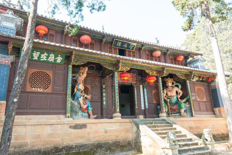 YUNNAN, CHINA - MAR 21 2015: Shibaoshan Mountain(Shibaoshan Shiku) at Shaxi Ancient village. a famous historical site of. Jianchuan, Yunnan, China stock image