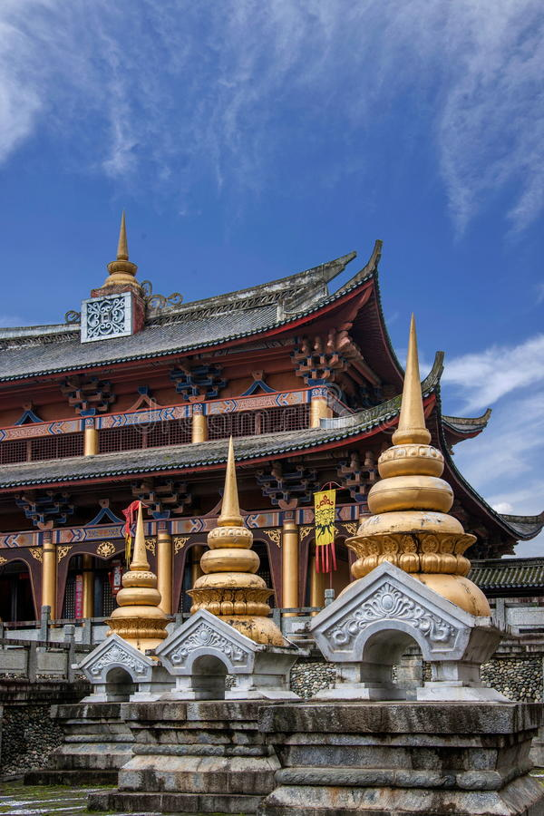 Yunnan Dali Dragon City Västra-stil byggnad arkivfoto