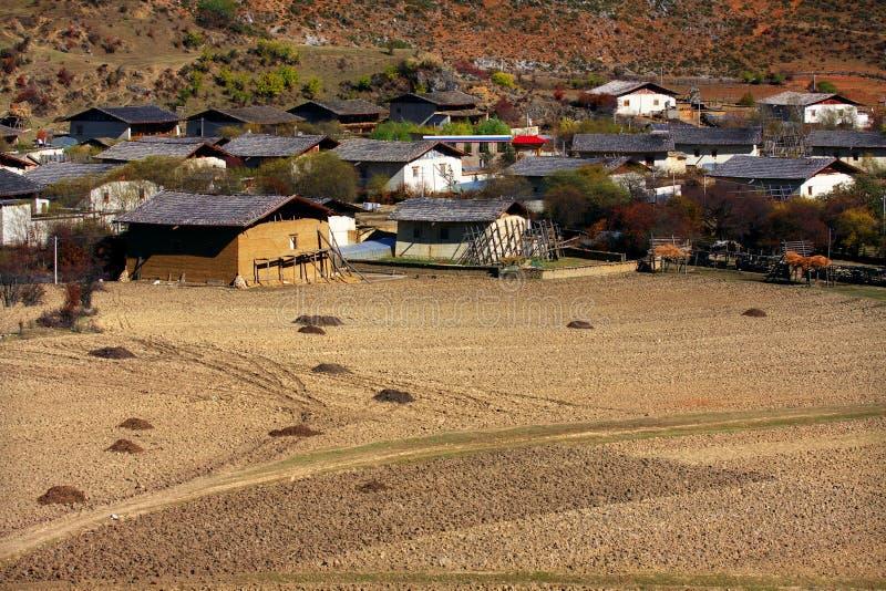 Yunnan-Dorf lizenzfreie stockfotografie