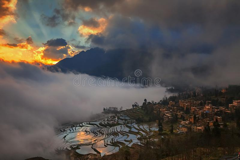 Yunnan Honghe Hani Terrace royalty free stock image