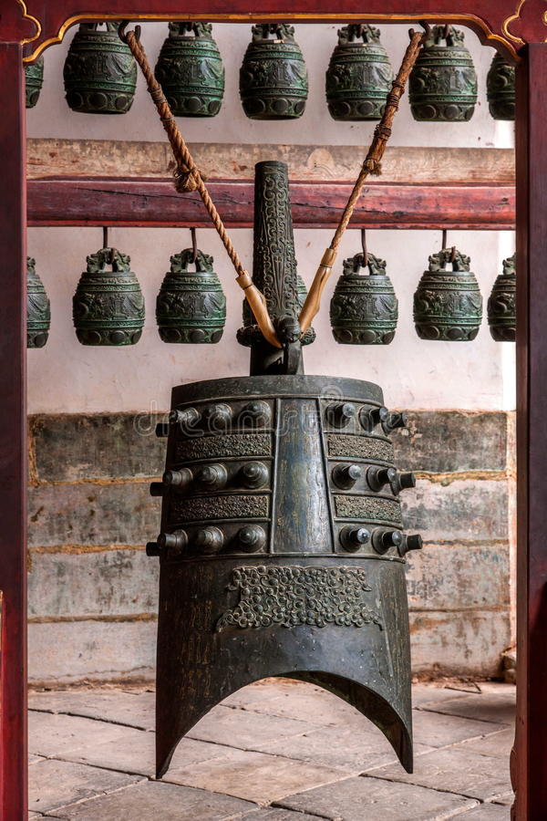 Free Yunnan Honghe Prefecture Jianshui Temple Great Hall Courtyard Bells Royalty Free Stock Image - 74267626