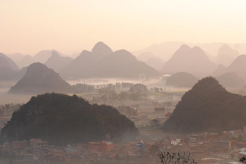 Yunnan-Landschaft stockfotos