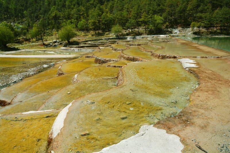 Yunnan Lijiang Błękitny Księżyc jezioro zdjęcie royalty free