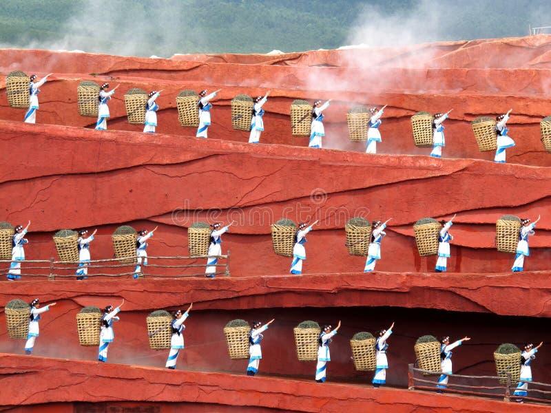 Yunnan-Minorität-Frau stockfoto