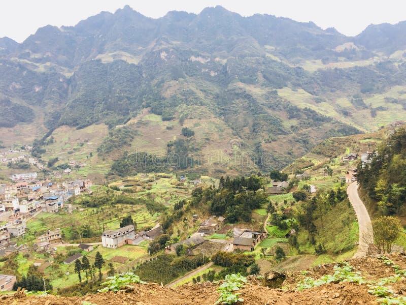 Yunnan-Provinz, Zhaotong-Stadt, Yiliang-Grafschaft, liuxi Gemeinde, chafang Dorf, tangbashe touristischer Bereich stockbild