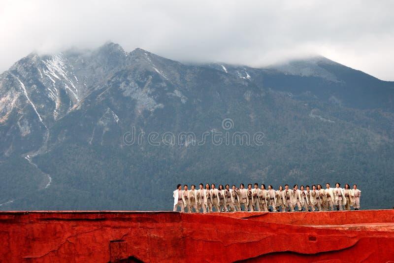 Yunnan's national dance royalty free stock photography