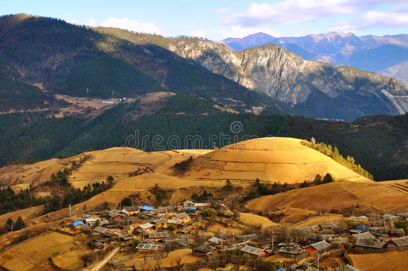 Yunnan village stock image