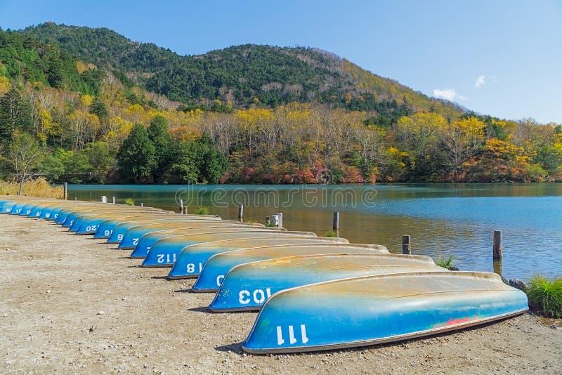 Yunoko See im Herbst, Nikko, Japan lizenzfreie stockfotografie