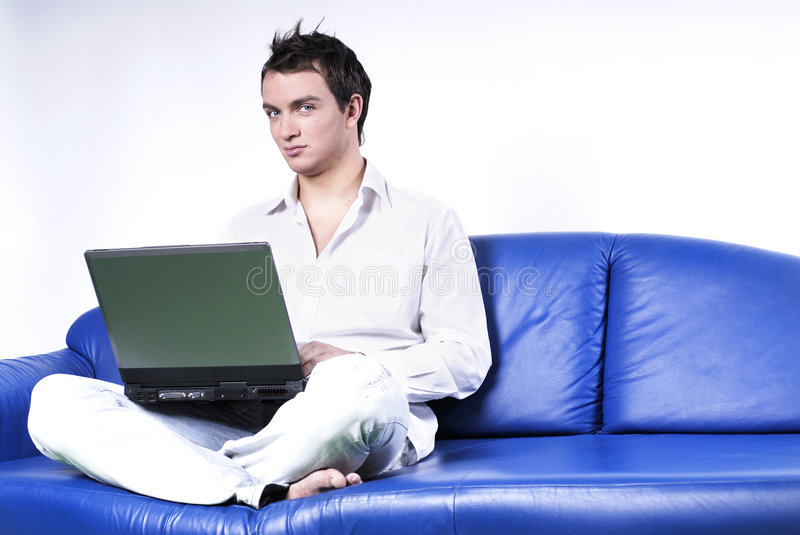 Download Yuppie With Laptop Stock Photography - Image: 1705682