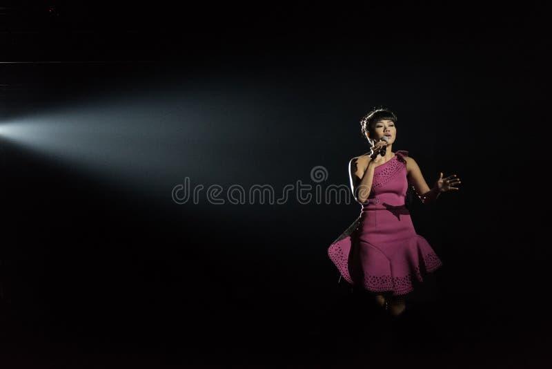 Yura Yunita performing in concert stock photos