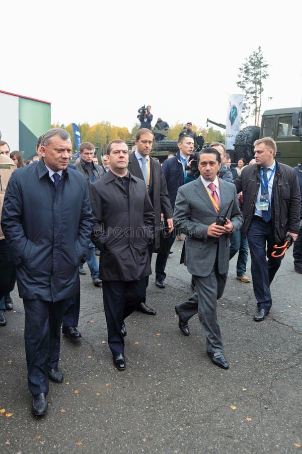 Yuri Borisov, Dmitry Medvedev and Oleg Sienko