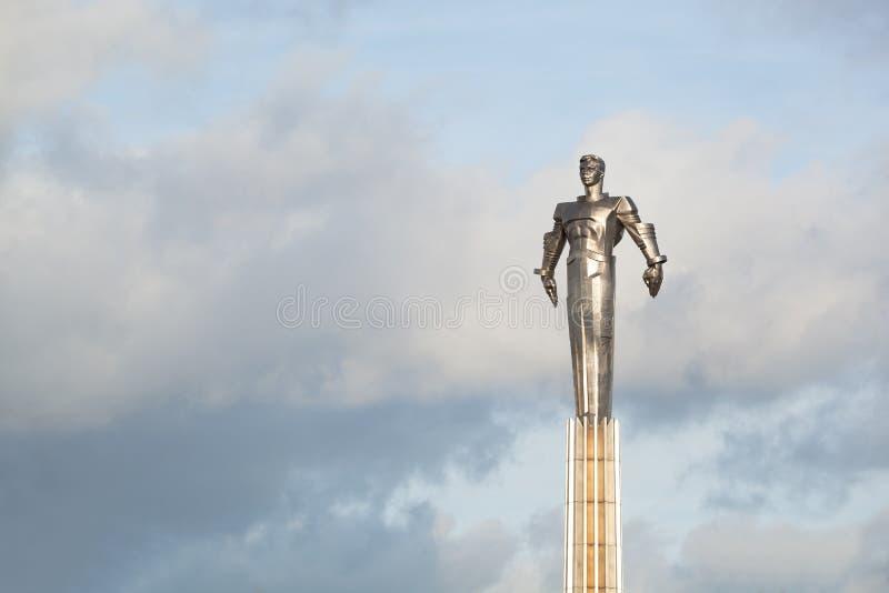 Yuri Gagarin monument royaltyfria bilder
