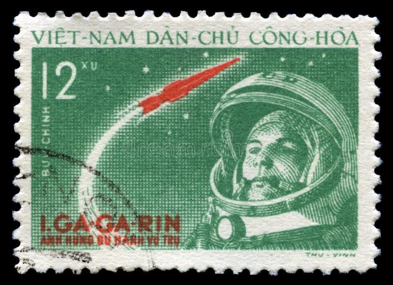 Yuri Gagarin Vintage Postage Stamp royalty free stock image