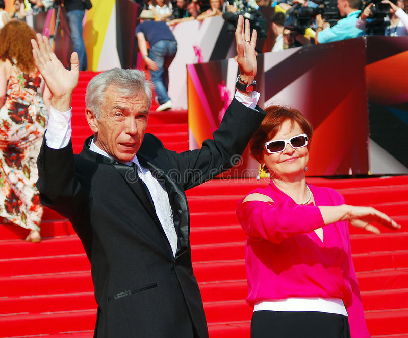Yuri Nikolaev På Moskvafilmfestivalen Redaktionell Bild
