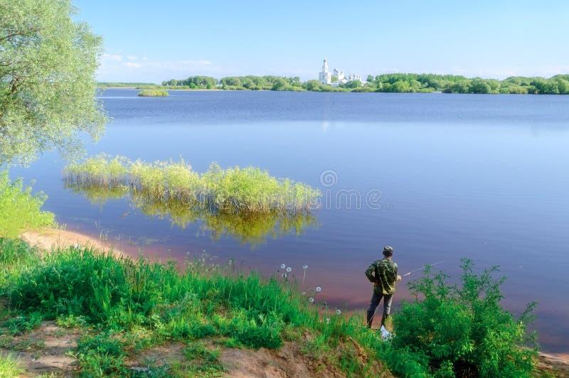 Yurievklooster in Veliky Novgorod royalty-vrije stock foto's
