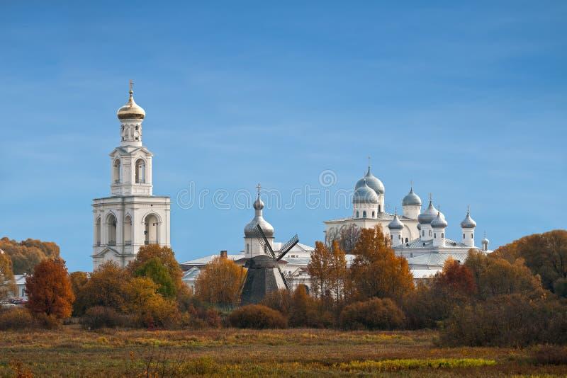 Yurievklooster, Veliky Novgorod, Rusland royalty-vrije stock fotografie