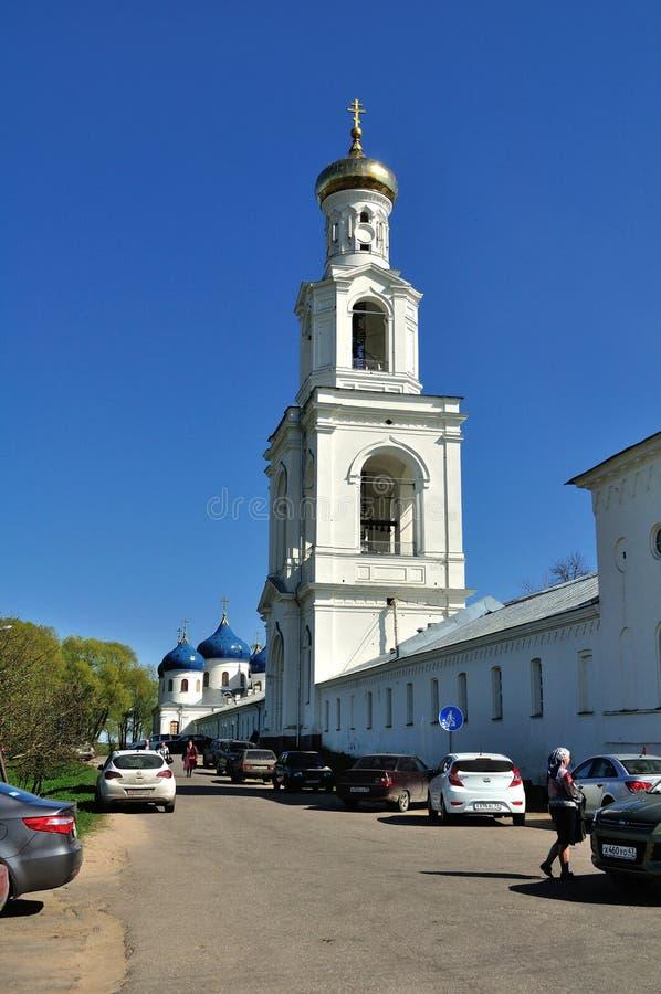 Yurievklooster in Veliky Novgorod, Rusland royalty-vrije stock foto's