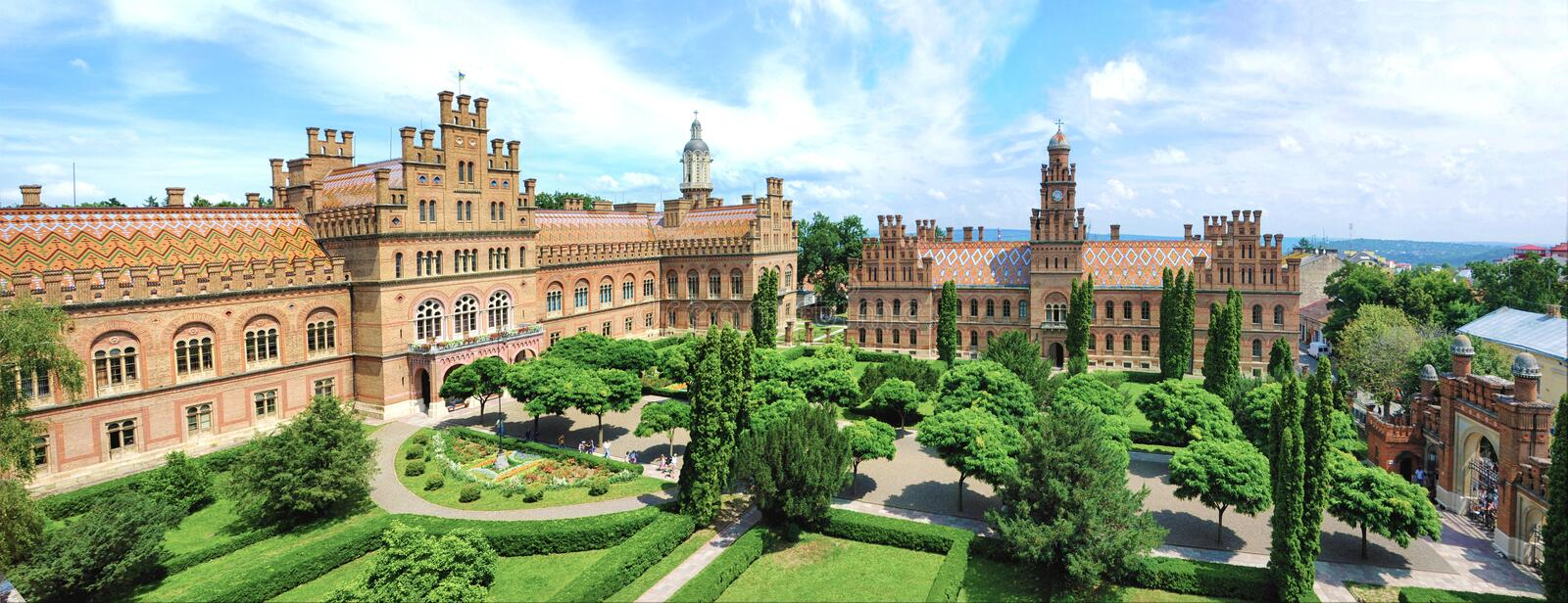 Yuriy Fedkovych Chernivtsi National University. Chernivtsi National University (full name Yuriy Fedkovych Chernivtsi National University Ukrainian stock photo