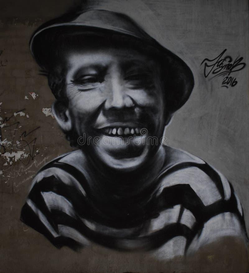 Yuriy Nikulin, calle de la pintada de Smolensk fotos de archivo libres de regalías