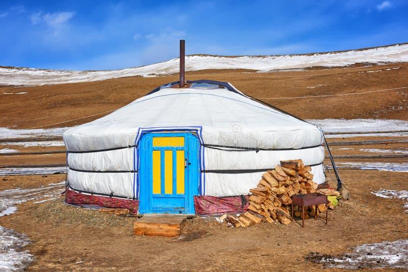 Yurt - à la maison des peuples nomades photos libres de droits