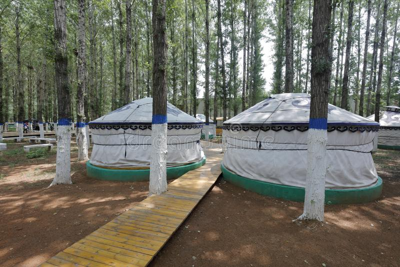Yurt στο khan μαυσωλείο genghis, πλίθα rgb στοκ εικόνες