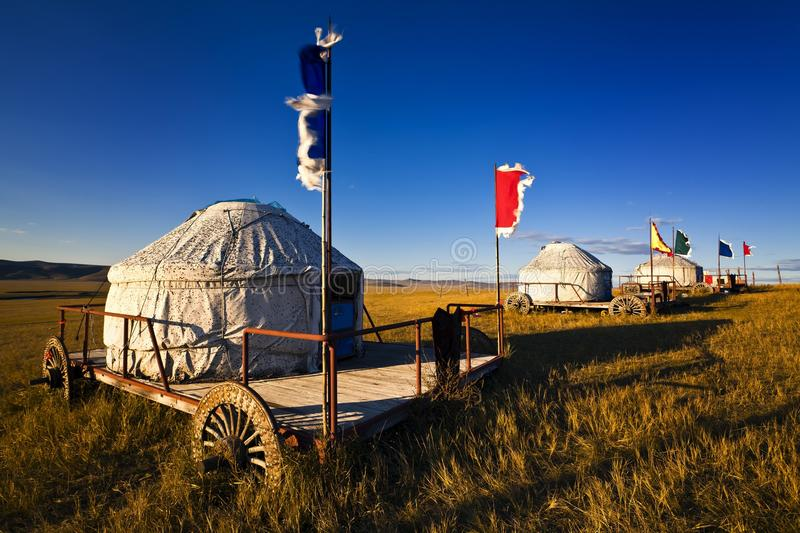 Download Yurt stock image. Image of landscape, field, concept - 17600003
