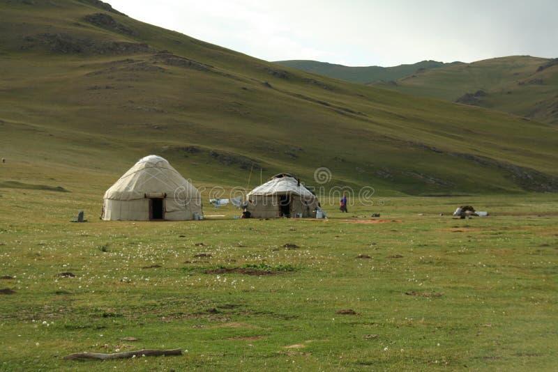 Download YURT stock image. Image of yurt, tent, cloudy, green, native - 6623617
