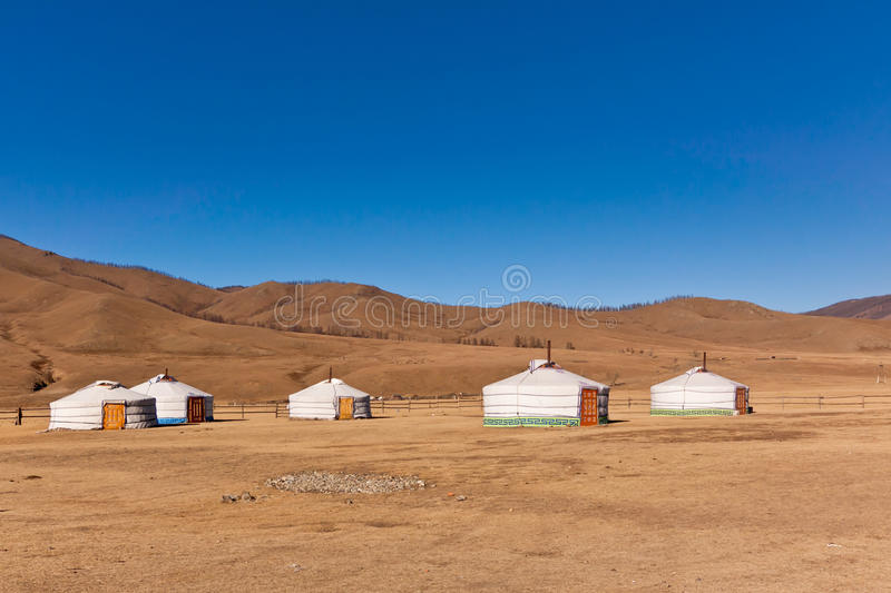 Yurt Camp Stock Photos