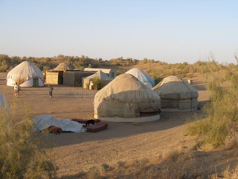Download Yurt camp in Uzbekistan stock image. Image of yurt, uzbekistan - 5656337