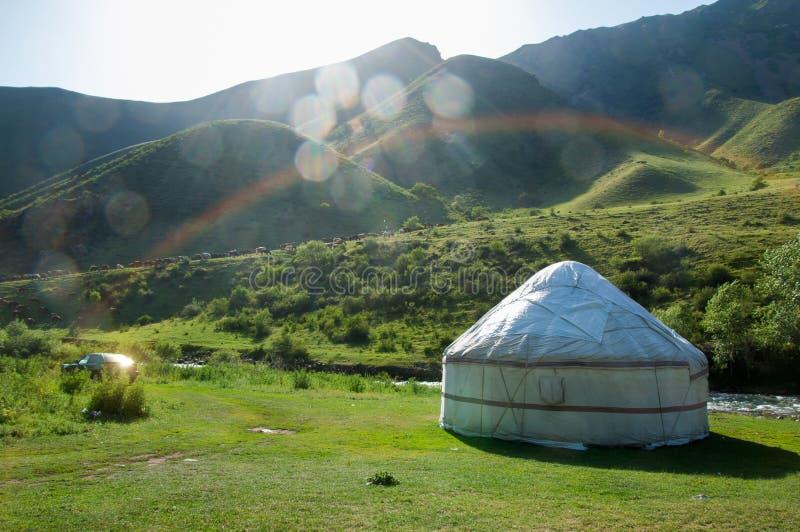 yurt de la montaña foto de archivo libre de regalías