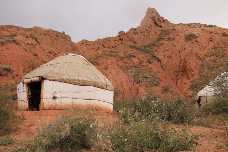Yurt de la montaña de Kirguistán fotos de archivo libres de regalías