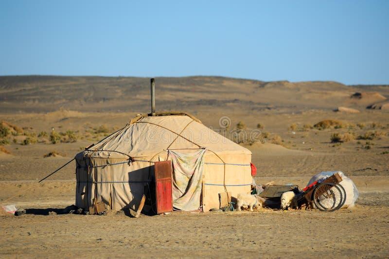 Yurt della Mongolia immagine stock