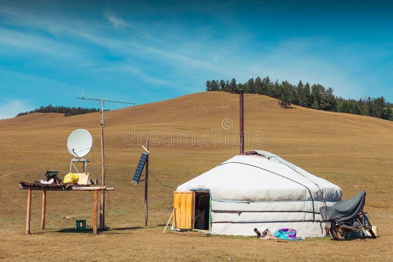 Yurt do Mongolian fotografia de stock