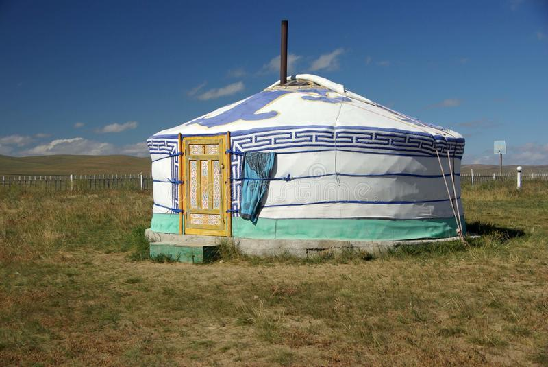 Yurt em Mongolia imagem de stock