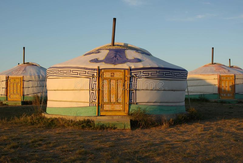 Yurt em Mongolia fotos de stock royalty free
