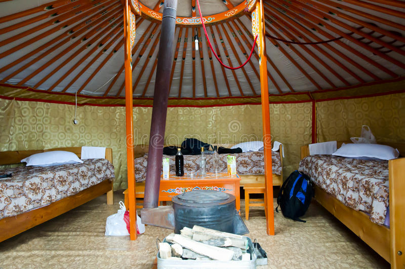 Yurt - la Mongolia immagini stock
