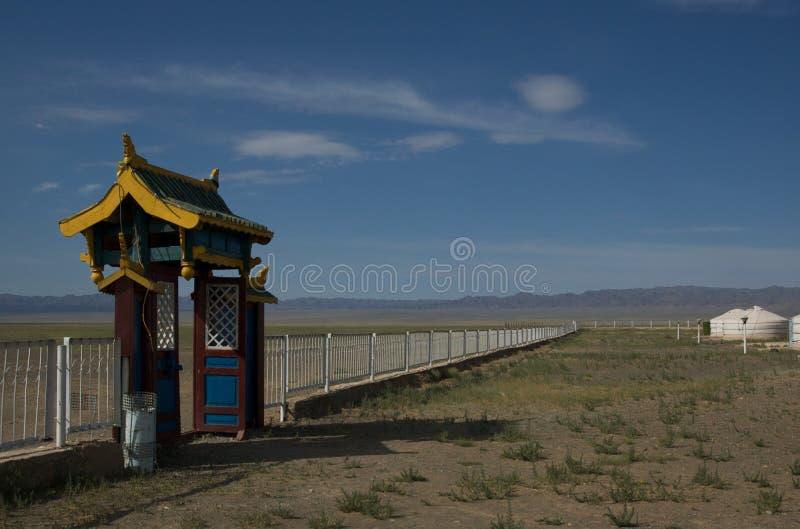 Yurt Lager an der Gobi-Wüste stockbilder