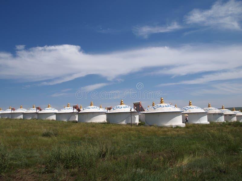 Yurt mongolo moderno fotografie stock