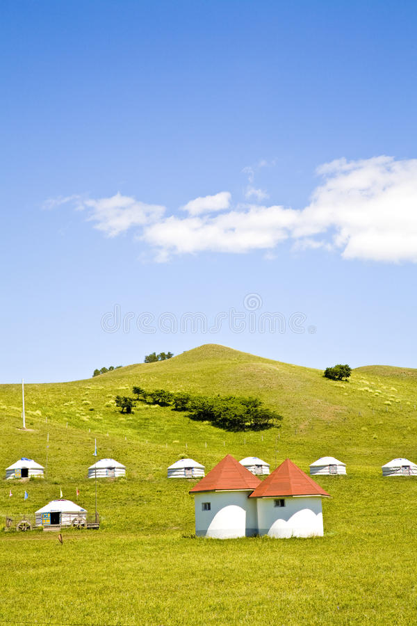Yurt - Nomad's tent royalty free stock photo
