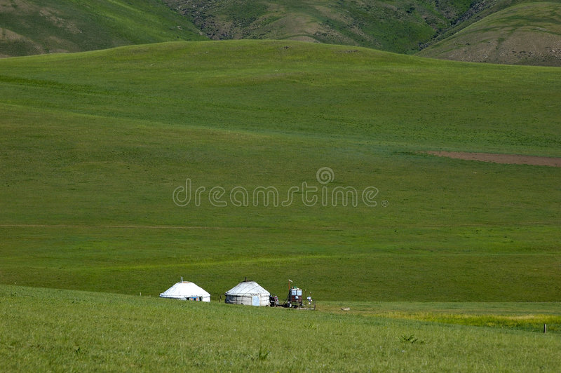 Yurt on the Prairies at stock images